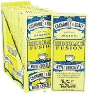 The Tea Room - Organic Chocolate Fusion Bar 30% Cacao White Chocolate Chamomile & Honey - 1.8 oz. by The Tea Room