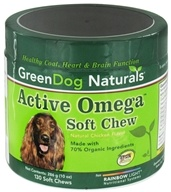 Image of Green Dog Naturals - Active Omega Soft Chew For Dogs Natural Chicken Flavor - 130 Soft Chews
