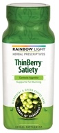Rainbow Light - ThinBerry Satiety Appetite Control with Slendesta & Green Coffee Bean - 60 Vegetarian Capsules by Rainbow Light