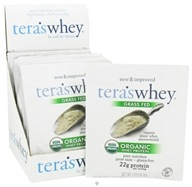 Tera's Whey - Organic Grass Fed Whey Protein Packet Plain Whey Unsweetened - 1 oz.