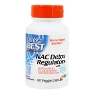 Doctor's Best - Best NAC Detox Regulators 600 mg. - 60 Vegetarian Capsules