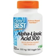 Doctor's Best - Best Alpha Lipoic Acid 300 mg. - 180 Vegetarian Capsules by Doctor's Best