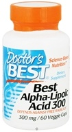 Doctor's Best - Best Alpha Lipoic Acid 300 mg. - 60 Vegetarian Capsules by Doctor's Best