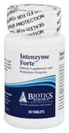 Biotics Research - Intenzyme Forte Proteolytic Enzyme Supplement - 50 Tablets - $12.90