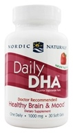 Nordic Naturals - Daily DHA for Healthy Brain and Mood Strawberry 1000 mg. - 30 Softgels
