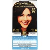 Tints Of Nature - Conditioning Permanent Hair Color 4N Natural Medium Brown - 4.4 oz. (704326100405)