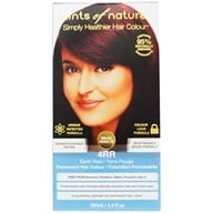 Tints Of Nature - Conditioning Permanent Hair Color 4RR Dark Henna Red - 4.4 oz. (704326101402)