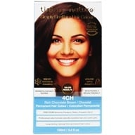 Tints Of Nature - Conditioning Permanent Hair Color 4CH Rich Chocolate Brown - 4.4 oz. (704326102126)