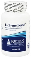 Image of Biotics Research - Li-Zyme Forte - 100 Tablets