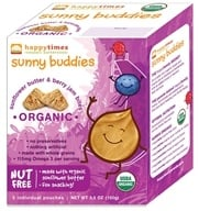 HappyBaby - Happy Times Organic Sunny Buddies Sunflower Butter and Berry Jams Bites - 3.5 oz.