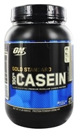 Image of Optimum Nutrition - 100% Casein Gold Standard Cookies & Cream - 2 lbs.