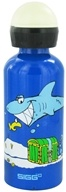 Sigg - Aluminum Water Bottle For Kids White Shark In The Dark - 0.4 Liter(s) CLEARANCE PRICED (7610465832103)