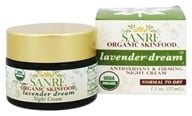 SanRe Organic Skinfood - Night Cream Lavender Dream - 1.1 oz.