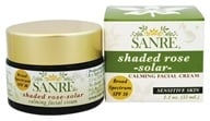SanRe Organic Skinfood - Shaded Rose-Solar Healing Facial Cream 30 SPF - 1.1 oz.