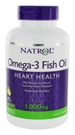 Image of Natrol - Omega-3 Fish Oil Lemon Flavor 1000 mg. - 150 Softgels