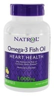 Natrol - Omega-3 Fish Oil for Heart Health Lemon Flavor 1000 mg. - 90 Softgels