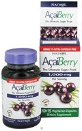 Image of Natrol - AcaiBerry Ultimate Super Fruit 1000 mg. - Bonus Size 60+15 Vegetarian Capsules