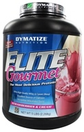 Image of Dymatize Nutrition - Elite Gourmet Protein Whey & Casein Blend Powder Strawberries & Cream - 5 lbs.