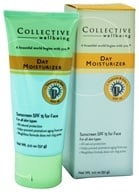 Collective Wellbeing - Day Moisturizer For Face with Titanium & Zinc Fragrance Free 15 SPF - 2 oz., from category: Personal Care