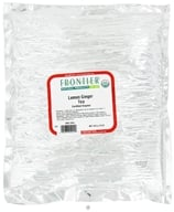 Frontier Natural Products - Bulk Lemon Ginger Tea Organic - 1 lb.