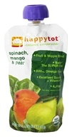 HappyBaby - HappyTot Organic Superfoods Stage 4 Spinach, Mango & Pear - 4.22 oz. (852697001293)