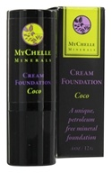 Image of MyChelle Dermaceuticals - Minerals Cream Foundation Coco - 0.4 oz. CLEARANCE PRICED