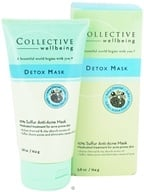 Collective Wellbeing - Detox Mask Anti-Acne Mask with 10% Sulfur & Active Charcoal - 5.8 oz. by Collective Wellbeing