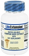 Life Extension - Water-Soluable Pumpkin Seed Extract with Soy Isoflavones 312 mg. - 60 Vegetarian Capsules, from category: Nutritional Supplements