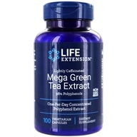 Life Extension - Mega Green Tea Extract Lightly Caffeinated with 98% Polyphenols 725 mg. - 100 Vegetarian Capsules (737870953104)