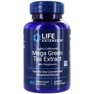 Image of Life Extension - Mega Green Tea Extract Lightly Caffeinated with 98% Polyphenols 725 mg. - 100 Vegetarian Capsules