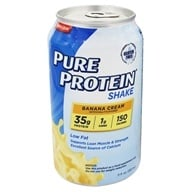 Pure Protein - Shake Banana Cream - 11 oz., from category: Sports Nutrition