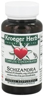 Kroeger Herbs - Schizandra Complete Concentrate - 90 Vegetarian Capsules, from category: Herbs