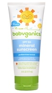BabyGanics - Cover-Up Baby Sunscreen Lotion For Face & Body Waterproof Fragrance Free 50 SPF - 6 oz.