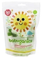 BabyGanics - Cover-Up Baby Sunscreen Lotion For Face & Body Waterproof On-The-Go Value Pack Fragrance Free 50 SPF - 12 Tubes (813277012382)