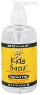 All Terrain - Kids Sanz Antiseptic & Moisturizing Hand Sanitizer Fragrance Free - 8 oz. (608503050821)