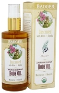 Badger - Body Oil Antioxidant Unscented with Olive & Jojoba - 4 oz.