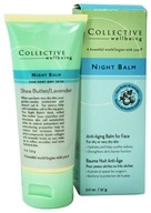 Collective Wellbeing - Night Balm Anti-Aging Balm For Face with Shea Butter & Lavender - 2 oz. (800704010042)