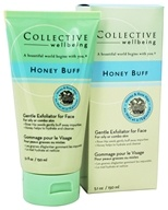 Collective Wellbeing - Honey Buff Gentle Exfoliator For Face with Honey & Rose Hips - 5.1 oz. - $12.47