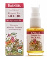 Badger - Face Oil Damascus Rose - 1 oz. Formerly Face Oil Antioxidant Damascus Rose with Lavender & Chamomile
