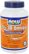 NOW Foods - Tri-3D Omega - 180 Softgels (733739016874)