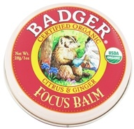 Badger - Focus Balm Citrus & Ginger - 1 oz.