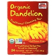 NOW Foods - Cleansing Herbal Tea Dandelion - 24 Tea Bags