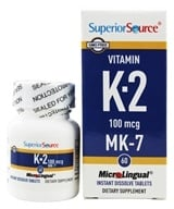 Superior Source - Vitamin K2 MK7 Instant Dissolve 100 mcg. - 60 Tablets