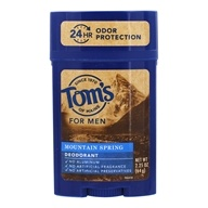 Tom's of Maine - All Natural Long Lasting Men's Wide Deodorant Stick Mountain Spring - 2.25 oz. /LUCKY PRICE