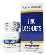 Superior Source - Zinc Lozenjets Instant Dissolve - 60 Tablets - $5.52