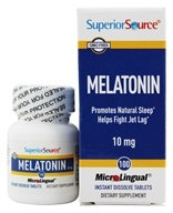 Superior Source - Melatonin Instant Dissolve 10 mg. - 100 Tablets by Superior Source