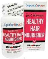 Superior Source - Just Women Healthy Hair Nourisher Instant Dissolve - 60 Tablets by Superior Source