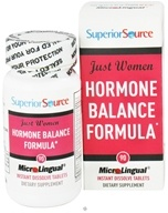 Superior Source - Just Women Hormone Balance Formula Instant Dissolve - 90 Tablets - $15.59