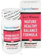 Superior Source - Just Women Mature Healthy Balance Formula Instant Dissolve - 90 Tablets - $15.99