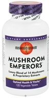 Mushroom Wisdom - Mushroom Emperors - 120 Vegetarian Tablets CLEARANCE PRICED